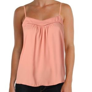 Jessica Simpson Shelby Printed Lace Trim Cami | M